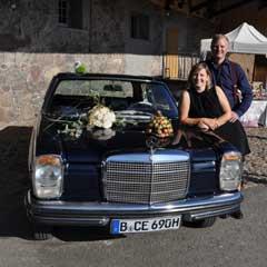 Anja und Norbert Gottsmann am Oldtimer